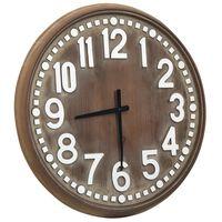 vidaXL Nástěnné hodiny hnědé 60 cm MDF