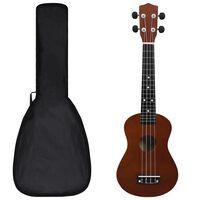 """vidaXL Set soprano ukulele s obalem pro děti tmavé dřevo 23"""""""