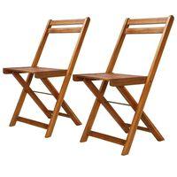 vidaXL Zahradní bistro židle 2 ks masivní akácie