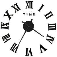 vidaXL 3D Nástěnné hodiny moderní design černé 100 cm XXL