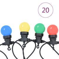 vidaXL LED lucerna světelný řetěz 20 ks kulatá vánoční dekorace 23 m