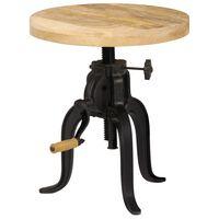 vidaXL Odkládací stolek 45 x (45–62) cm masivní mangovník a litina