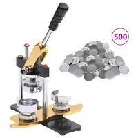 vidaXL Stroj na výrobu placek rotační 500 ks butonů se špendlíkem 25mm