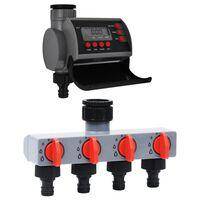 vidaXL Zavlažovací hodiny s jedním výstupem a rozvaděčem vody