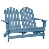 vidaXL 2místná zahradní židle Adirondack masivní jedlové dřevo modrá