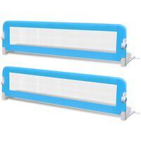 vidaXL Dětské zábrany k postýlce 2 ks modré 150 x 42 cm