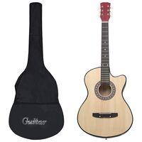 vidaXL 12dílný set folková akustická cutaway kytara se 6 strunami 38''