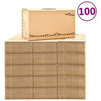 vidaXL Kartónové krabice na stěhování XXL 100 ks 60 x 33 x 34 cm