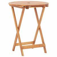 vidaXL Skládací zahradní stůl 60 x 75 cm masivní akáciové dřevo