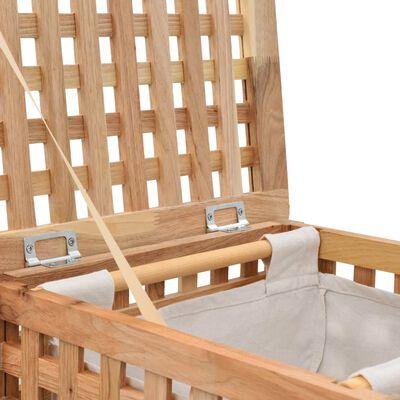 vidaXL Koš na prádlo 39 x 39 x 65 cm masivní ořechové dřevo