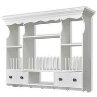 vidaXL Dřevěná kuchyňská skříňka nástěnná bílá