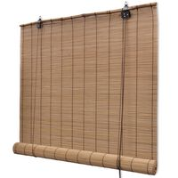 Hnědá  bambusová roleta 100 x 160 cm