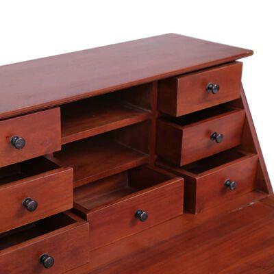 vidaXL Sekretář hnědý 78 x 42 x 103 cm masivní mahagonové dřevo