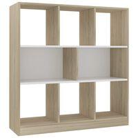 vidaXL Knihovna bílá a dub sonoma 97,5 x 29,5 x 100 cm dřevotříska