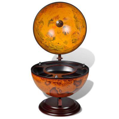 vidaXL Stolní globus bar stojan na víno eukalyptové dřevo