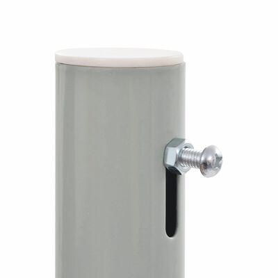 vidaXL Terasová zatahovací boční markýza 120 x 300 cm šedá