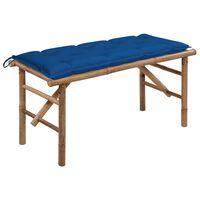 vidaXL Skládací zahradní lavice s poduškou 118 cm bambus