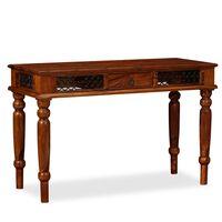 vidaXL Psací stůl z masivního sheeshamového dřeva, 120 x 50 x 76 cm