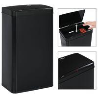 vidaXL Odpadkový koš s automatickým senzorem černý ocel 70 l