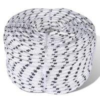 vidaXL Splétané lano lodní, polyester 12 mm x 50 m