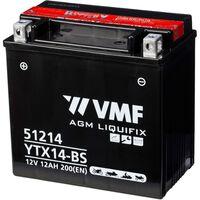 VMF Powersport Liquifix baterie 12 V 12 Ah MF YTX14-BS