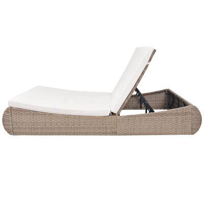 vidaXL Zahradní postel polyratan béžová