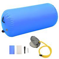 vidaXL Nafukovací cvičební válec s pumpou 120 x 75 cm PVC modrý