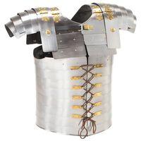 vidaXL Římský lamelový pancíř pro LARPy replika stříbrný ocel