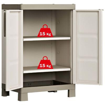 Keter Nízká úložná skříňka Excellence béžová a taupe 97 cm