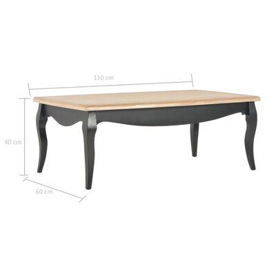 vidaXL Konferenční stolek černý a hnědý 110x60x40 cm masivní borovice