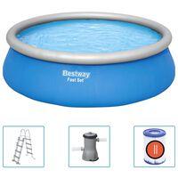 Bestway Nafukovací bazénový set Fast Set kruhový 457 x 122 cm