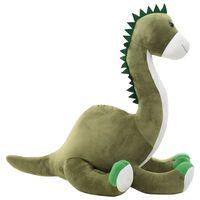 vidaXL Plyšový dinosaurus brontosaurus k mazlení šedý