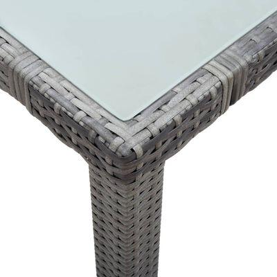 vidaXL Zahradní stůl bílý 150 x 90 x 75 cm polyratan