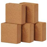 vidaXL Lisované kokosové vlákno 5 ks 5 kg 30 x 30 x 10 cm