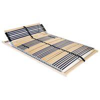 vidaXL Lamelový rošt postele se 42 lamelami 7 zón 120 x 200 cm