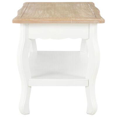 vidaXL Konferenční stolek bílý a hnědý 87,5x42x44 cm masivní borovice