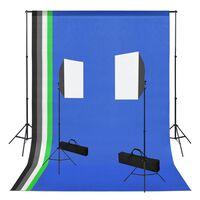 vidaXL Foto studio set se softboxy a fotopozadím