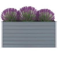vidaXL Vyvýšený zahradní truhlík 160x80x77 cm galvanizovaná ocel šedý