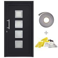 vidaXL Vchodové dveře antracitové 98 x 208 cm