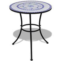 vidaXL Bistro stolek modrý a bílý 60 cm mozaika