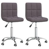 vidaXL Otočné jídelní židle 2 ks taupe textil