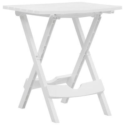 vidaXL Skládací zahradní stůl 45,5 x 38,5 x 50 cm bílý