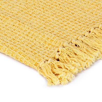 vidaXL Přehoz bavlna 160 x 210 cm hořčicově žlutý