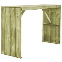vidaXL Barový stůl 170 x 60 x 110 cm impregnovaná borovice