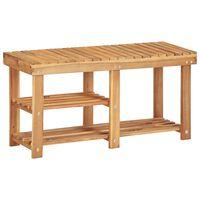 vidaXL Botník 90 x 32 x 46 cm masivní akáciové dřevo