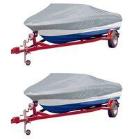 vidaXL Krycí plachty na člun 2 ks šedé délka 610–671 cm šířka 254 cm