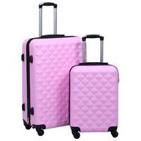 vidaXL Sada skořepinových kufrů na kolečkách 2 ks růžová ABS