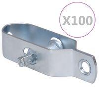 vidaXL Napínáky na drátěný plot 100 ks 90 mm ocel stříbrné