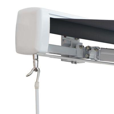 vidaXL Kazetová markýza na ruční ovládání 350 cm antracitová