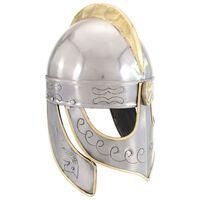 vidaXL Beowulf přilba pro LARPy replika stříbro ocel